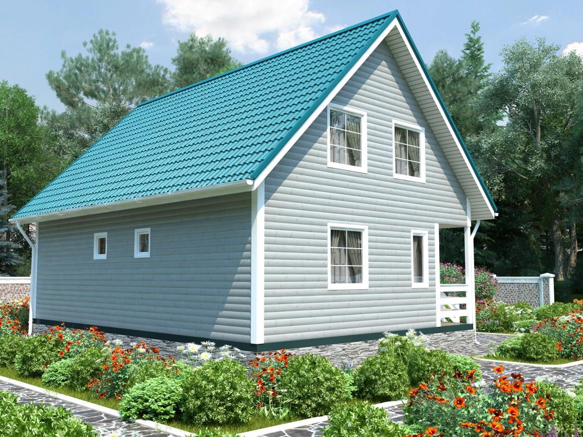 Проект K-140 дом из профилированного бруса